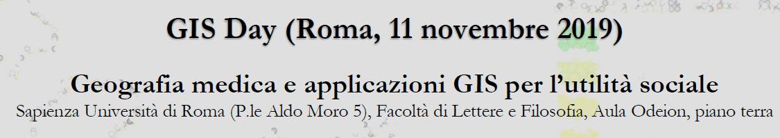 Roma, 11/11/19: GIS Day