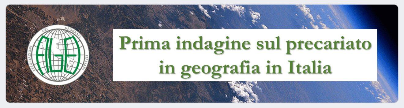 Prima indagine sul precariato in geografia in Italia