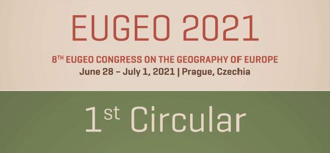 Prima circolare del Congresso EUGEO 2020 (Praga, 28/6-1/7 2021)